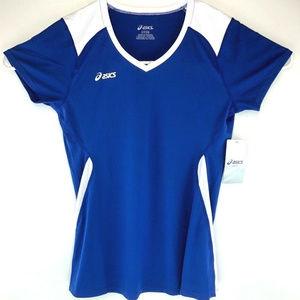 Asics Womens Short Sleeve Athletic Jersey XXL Blue